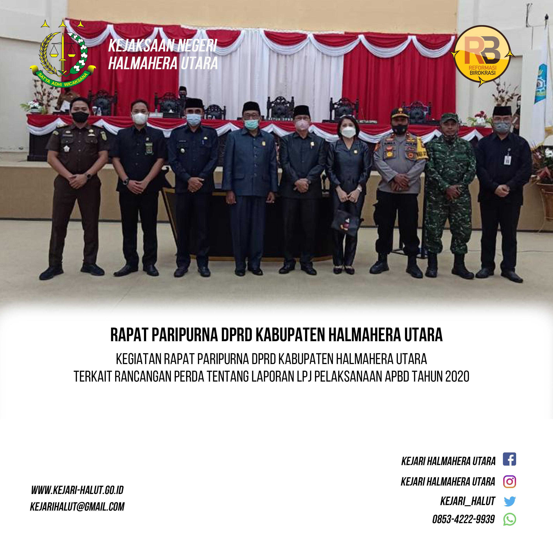 Rapat Paripurna DPRD Halmahera Utara
